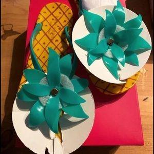 Kate Spade Pineapple Flip Flops
